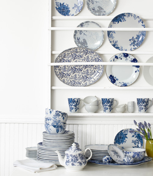 CL blue and white dishes