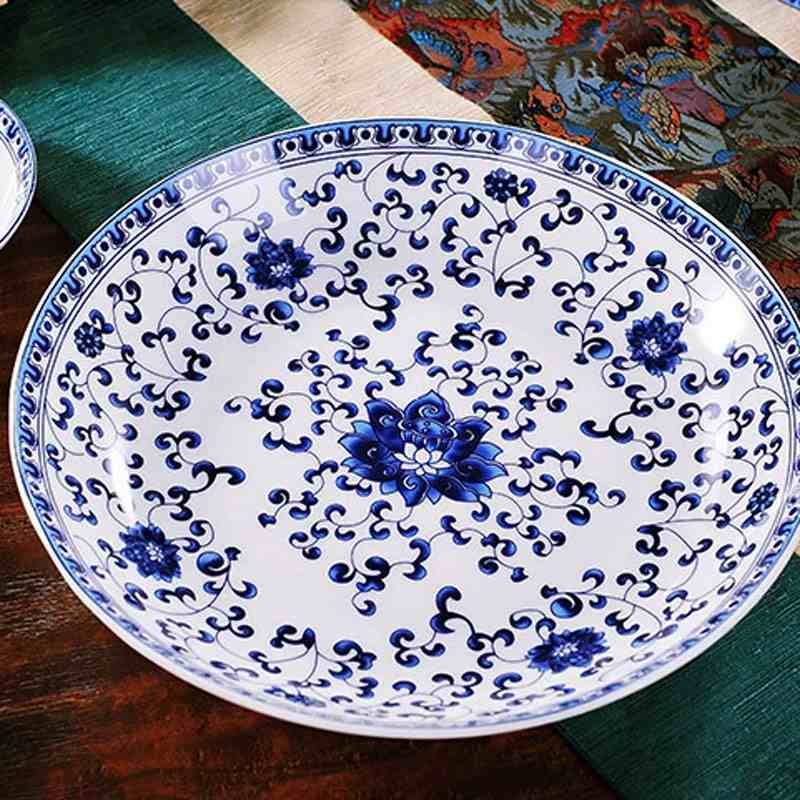 High-end-chinaware-58-pieces-European-high-grade-bone-china-blue-and-white-glazed-ceramic-dinnerware