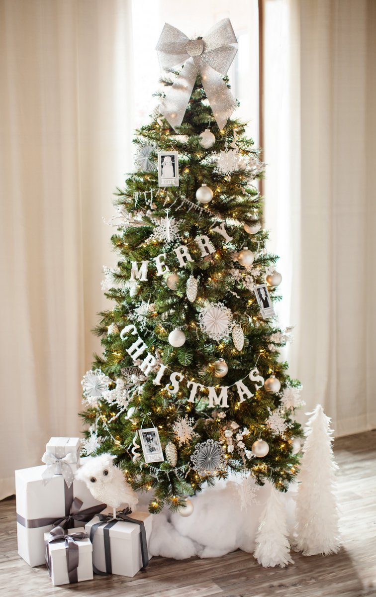 White-Christmas-Tree-Decorations-2015-ideas