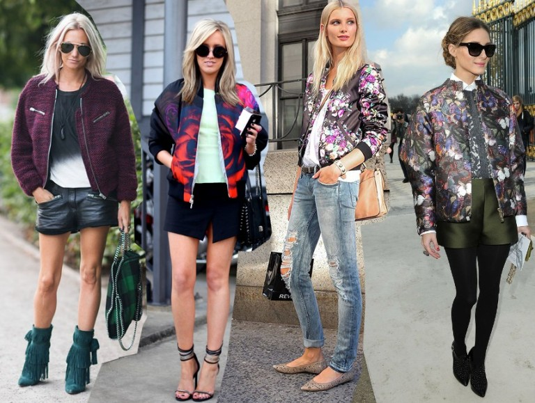 bomber jacket  trend 2014 outfits fashion street style streetstyle